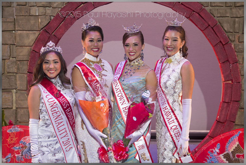 2015/2016 Miss Chinatown Hawaii/Miss Hawaii Chinese Queens - ©2015 Paul Hayashi Photography - All Rights Reserved