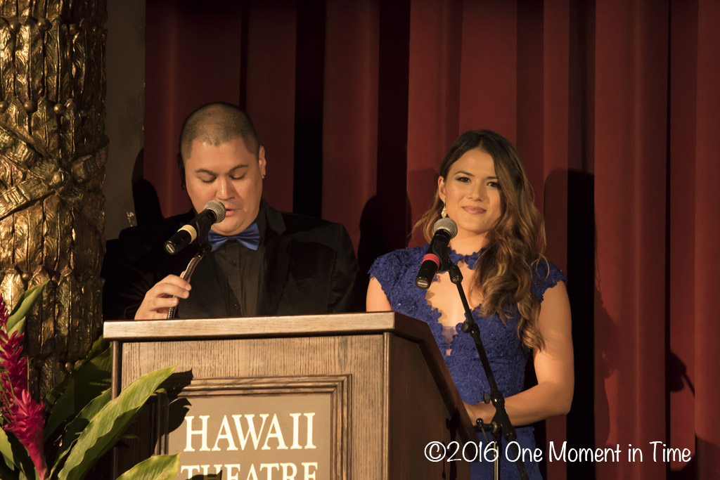 Emcees - Kaulana Chang and Crystal Montrone (Miss Chinatown Hawaii 2013 Miss Chinatown Hawaii/Miss Hawaii Chinese Scholarship Pageant - ©2017 One Moment in Time Photography