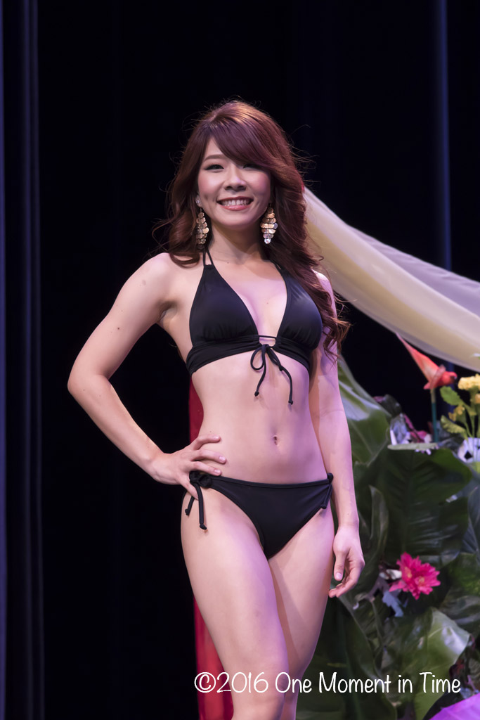 Swimsuit - Melody Kaohu - Miss Chinatown Hawaii/Miss Hawaii Chinese Scholarship Pageant - ©2017 One Moment in Time Photography