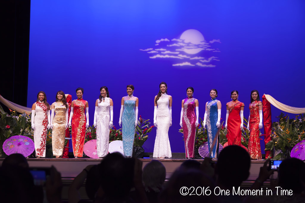 Cheongsam Final Lineup - Miss Chinatown Hawaii/Miss Hawaii Chinese Scholarship Pageant - ©2017 One Moment in Time Photography