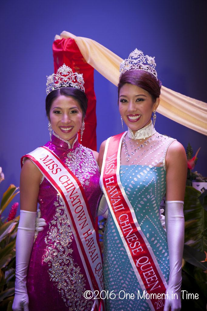 2017 Miss Chnatown Hawaii Chelsie Mow & Miss Hawaii Chinese Stephanie Wang - Miss Chinatown Hawaii/Miss Hawaii Chinese Scholarship Pageant - ©2017 One Moment in Time Photography