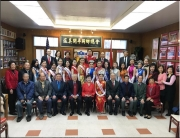 "LikemisschinatownusaThe MCU Class of 2018 and the 2017 court visit the Hoy Ping Benevolent Association this AM. This is the first of several stops where the contestants visit family associations and community groups in SF Chinatown. They customarily award the representative whose lineage hails from ancestral region in China a traditional ""gum pai"" gold necklace to commemorate their achievement and as a sign of support and goodwill. This historical tradition is what makes the Miss Chinatown pageant truly unique."