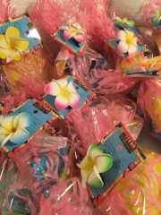 Goodie bags from Hawaii are also ready to go