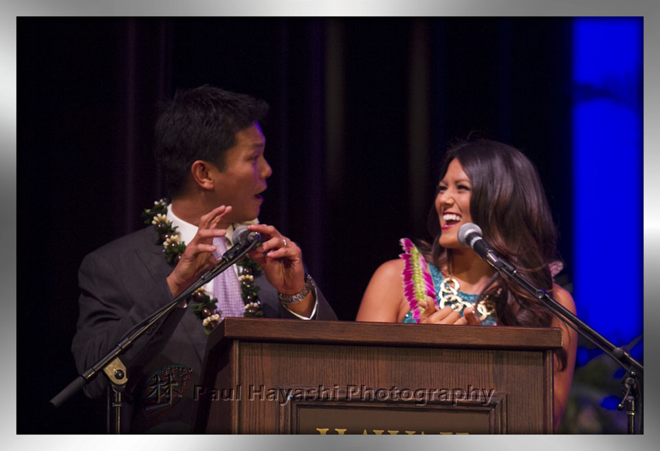 Emcees - Kenny Choi & 2013 Miss Hawaii Crystal Lee