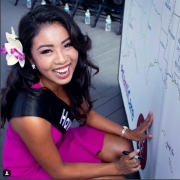 Signing my name into history. Forever your Miss Hawaii 2018, Penelope Ng Pack