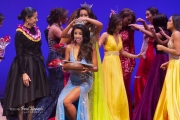 Getting the Miss Hawaii crown from 2017 Miss Hawaii Kathryn Teruya