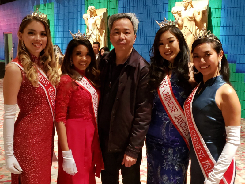 2019 Miss Chinatown Hawaii Court at the 2019 Miss Chinatown USA Pageant - Photo by Alvin Tang