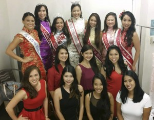 2016 Contestants wtih former Miss Chinatown Hawaii Title Holders