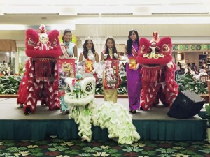 2015 Queen & Court with Lion Dancers at the Kahala Mall Appearance
