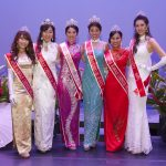 2017 Miss Chinatown Hawaii/Miss Hawaii Chinese Court - L-R Princess Melody Kaohu, 1st Princess Nikky Ansai, Miss Chinatown Hawaii Chelsie Mow, Miss Hawaii Chinese Stephanie Wang, Princess Yanna Xian, Miss Congeniality Crystal Yang - ©2016 One Moment in Time Photography